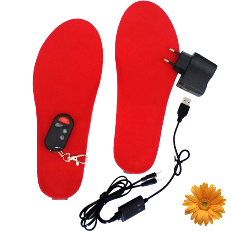 1800mA Ski Product Feet Warming Insoles Battery Heating Wireless Thermal Electric Foot W ...
