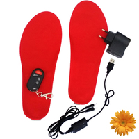 1800mA Ski Product Feet Warming Insoles Battery Heating Wireless Thermal Electric Foot Warmer Rechargeable Insole Heated Soles