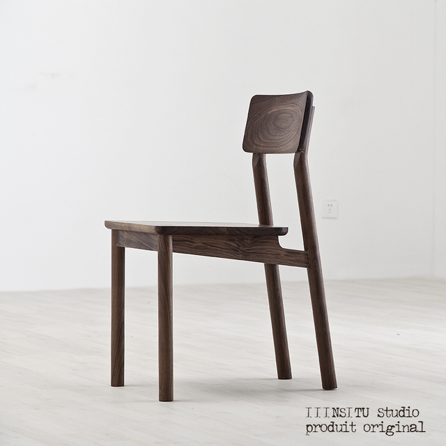 Walnut Wood Ash Dining Chairs Tired Room Modern Minimalist Style Original Design Tenon Joint Structure