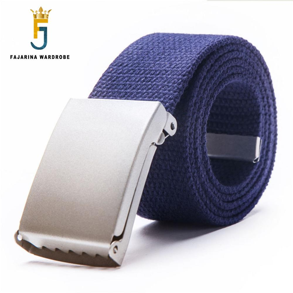 FAJARINA Good Quality Fashion Jeans Straps Belts Unisex Casual Canvas Belt for Men Blue Red Colours Optional CBFJ0018
