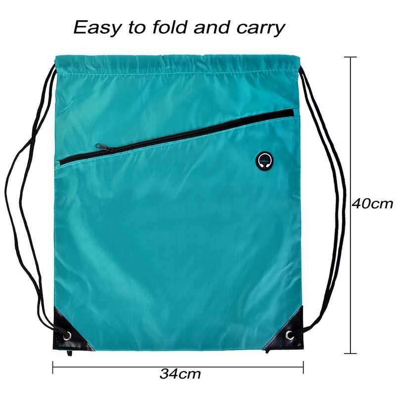 SHUJIN водонепроницаемая сумка на шнуровке, однотонная Сумка-тоут для кемпинга, унисекс, рюкзак, легкая спортивная сумка, повседневные спортивные сумки для мужчин и женщин