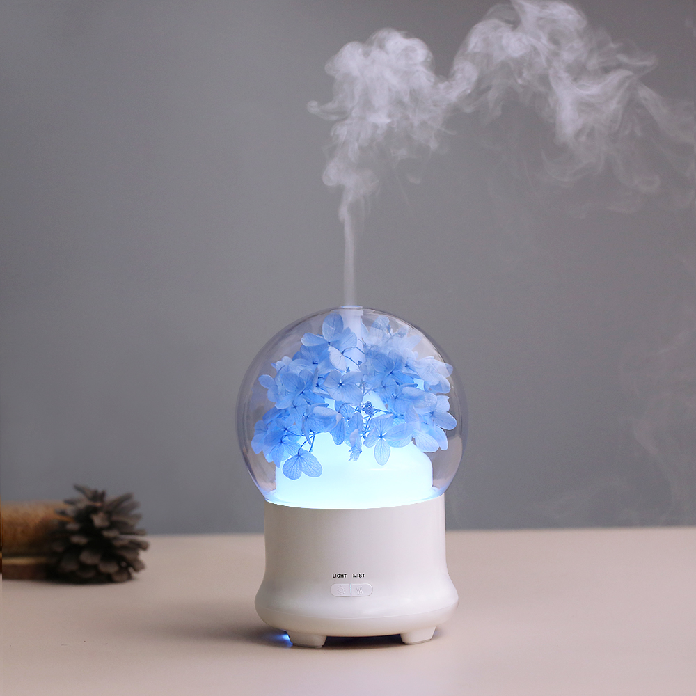 Crystal Eternal Flower Ultrasonic Air Humidifier Household Essential Aroma Oil Diffuser Pretty Air Humidifier Aroma Oil Fogger