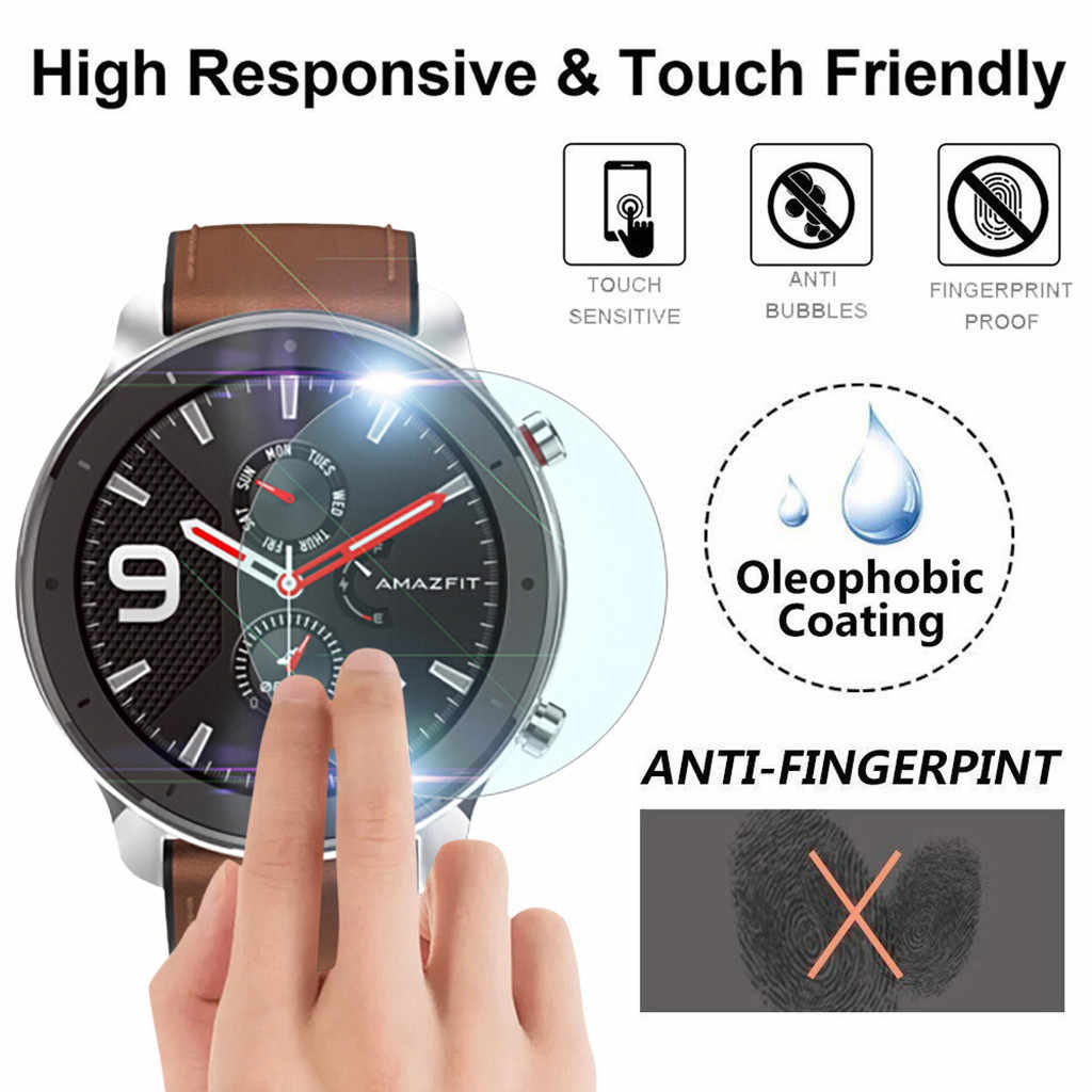 3Pack For Xiaomi AMAZFIT GTR Smart Watch 47mm Screen Protection Film High Transparency Screen Protector Watch Accessories
