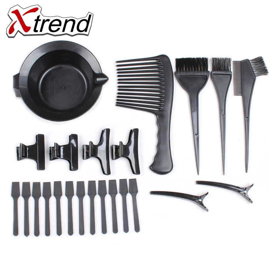 The New Useful Hairdressing Hair Dye Bowl Comb Brush 23 Piece Combination Packages Toning Tint Coloring and Fashion Styling Tool