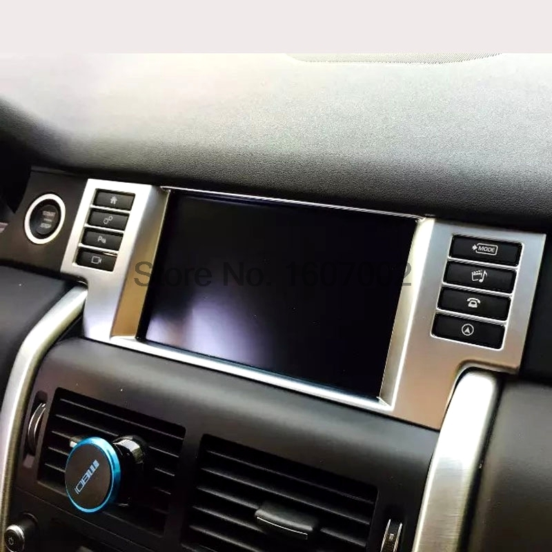 For Land Rover Discovery Sport 2015 ABS Chrome Interior Center Control Consoles Navigation Frame Trim Cover Accessories