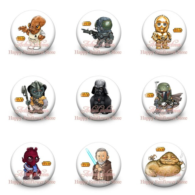 Cool Star Wars Cartoon Buttons Brooch