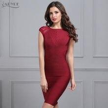 Женское бандажное платье adyce бордовое с коротким рукавом и