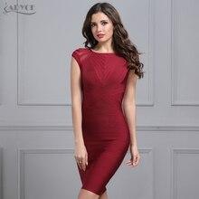 Elegant Bandage Dress Women 2018 Black Wine Red O neck Short sleeve mesh hot Celebrity Runway Dress Evening Party Dress Vestidos