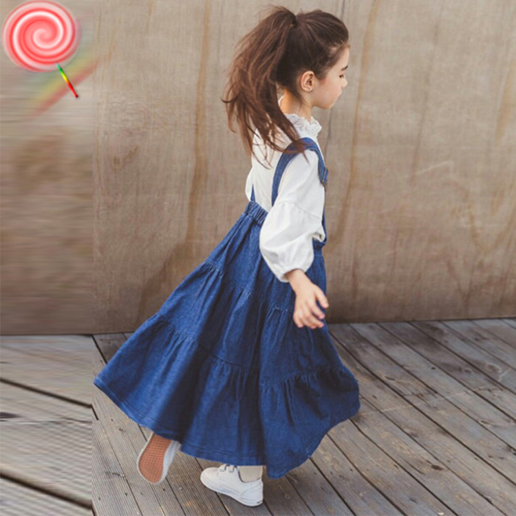 Toddler Clothes Set For Girls Teenagers 2019 Spring White Shirt + Denim Overall Dress Big Girls Boutique Kids Clothing 10 12 14Toddler Clothes Set For Girls Teenagers 2019 Spring White Shirt + Denim Overall Dress Big Girls Boutique Kids Clothing 10 12 14