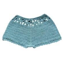 Hot Sale Women Summer Shorts Fashion Knit Crochet Sexy Hollow Out Shorts Boho Women Solid Color Casual Shorts 2019 цена в Москве и Питере