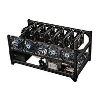 Компьютер добыча Чехол для 6 GPU шасси Поддержка GTX 1080 ti 1070 1060 1050 P106 Графика видеокарта вентилятор 2 Питание