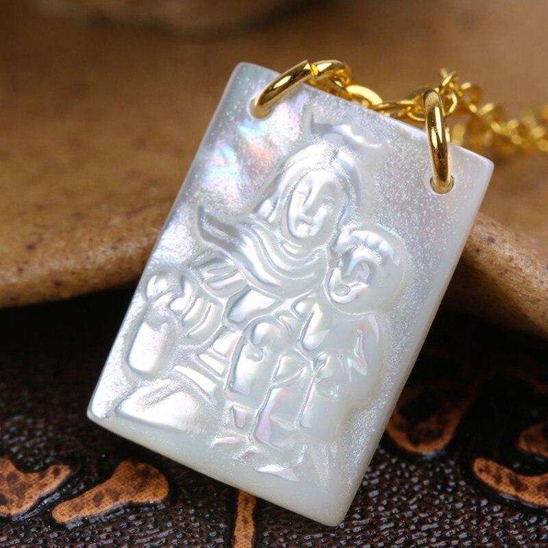 10 шт./лот 12*16 мм религиозные деятели греческие/Ангел/натуральная СС оболочки кулон с Медь цепи сплава модные Цепочки и ожерелья - Окраска металла: Светло-желтый цвет