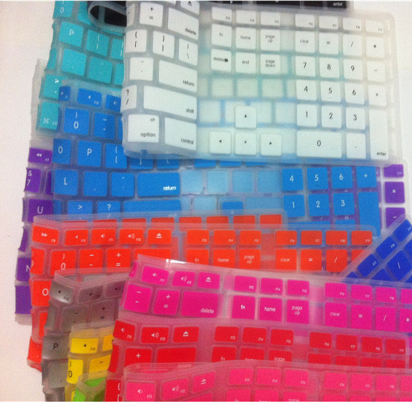 Silicone Keyboard Cover Skin Computer Desktop Color Protector with a Numeric Stickers Keypads for Apple iMac G5/G6 MB110LL/A ...