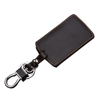remote key Stylish Genuine Leather 4 Buttons Car Remote Key Cover Case for Renault  Koleos (3)