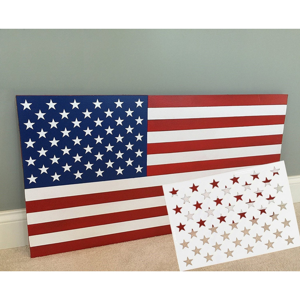 Blulu Star Stencil 50 Stars American Flag Template And 2 In 1 Usa