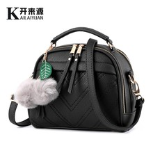 KLY 100% Genuine leather Women handbags 2019 New handbag patent stereotypes fashion Shoulder Messenger