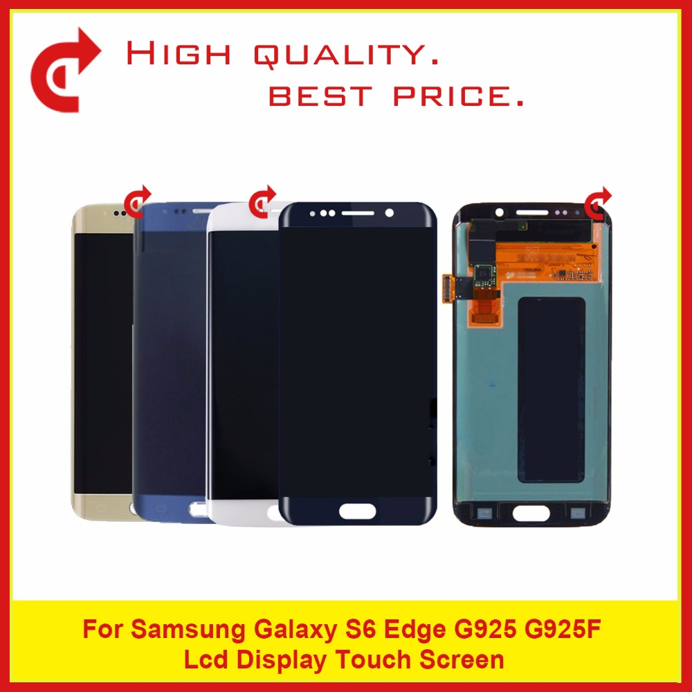 5Pcs/lot Super AMOLED 5.1 For Samsung Galaxy S6 Edge G925 G925F LCD Display Touch Screen Digitizer Assembly Complete5Pcs/lot Super AMOLED 5.1 For Samsung Galaxy S6 Edge G925 G925F LCD Display Touch Screen Digitizer Assembly Complete