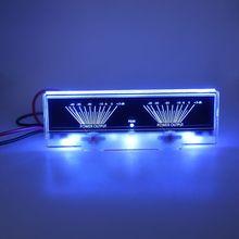 Панель усилителя мощности, двойной аналоговый VU измеритель уровня звука, дБ метр с подсветкой