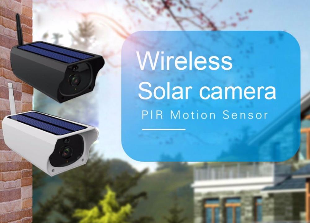 2MP Solar power/ battery dual power wifi IP cameras P2P outdoor IP67 waterproof IR vision wireless security cameras IP cameras