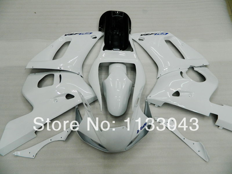 100%new glossy white Fairing kit for Yamaha YZF-R6 98-02 YZF R6 98 99 00 01 02 YZF 600 R ...