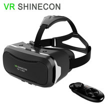 VR Shinecon 2.0 VRแว่นตา3Dหัวหน้าเมารุ่นแว่นตา3Dเสมือนจริง+บลูทูธระยะไกลควบคุมGamepad