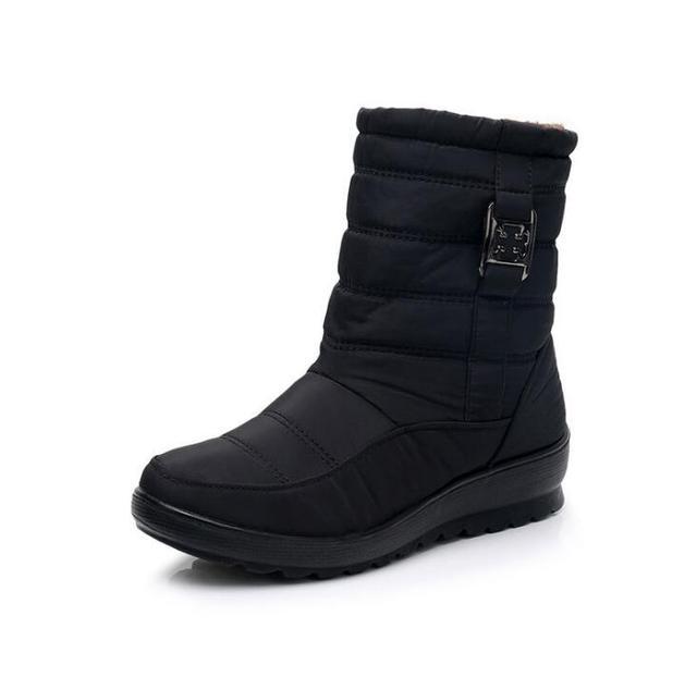 الثلوج 2018 الشتاء الدافئة قصيرة أفخم المرأة أحذية قطنية ، قصيرة أنبوب و العجل السيدات سستة أحذية تسليم سريع
