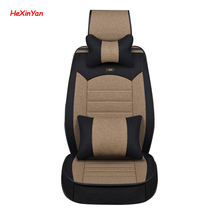 HeXinYan Universal Flax Car Seat Covers for Cadillac all models ATS SLS CTS SRX CT6 ATSL XTS XT5 car styling auto accessories kalaisike universal car floor mats for cadillac all models srx cts escalade ats ct6 xt5 xts sls ct6 atsl car accessories styling