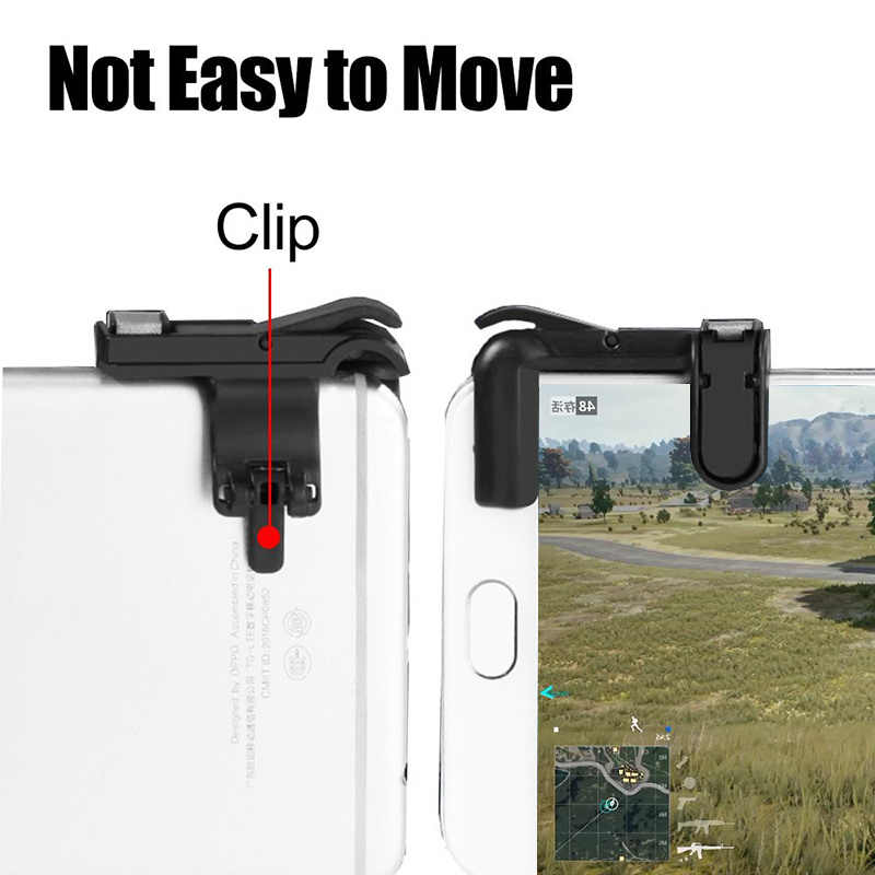 2X Gamepad for Mobile Phone Fire Button Aim Key L1R1 Shooter Controller PUBG V3.0 FUT1 Left Right Handles or IPhone Android IOS