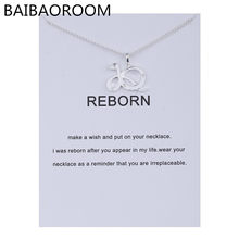 Fashion Jewelry Animal Ornaments Zodiac Reborn Snake Logo Alloy Clavicle Pendants Short Necklace Women Gift(China)