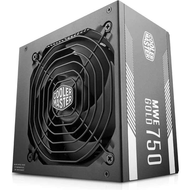 Image 2 - Cooler Master PC PSU Computer Power Supply Rated 750W 750 Watt 12cm Fan 12V ATX PC Power Supply GOLD 80PLUS For Game Office-in PC Power Supplies from Computer & Office