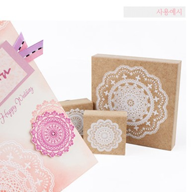 Wooden Stamps Romantic bud silk printed seal high quality and beauty design 9*9cm free shipping