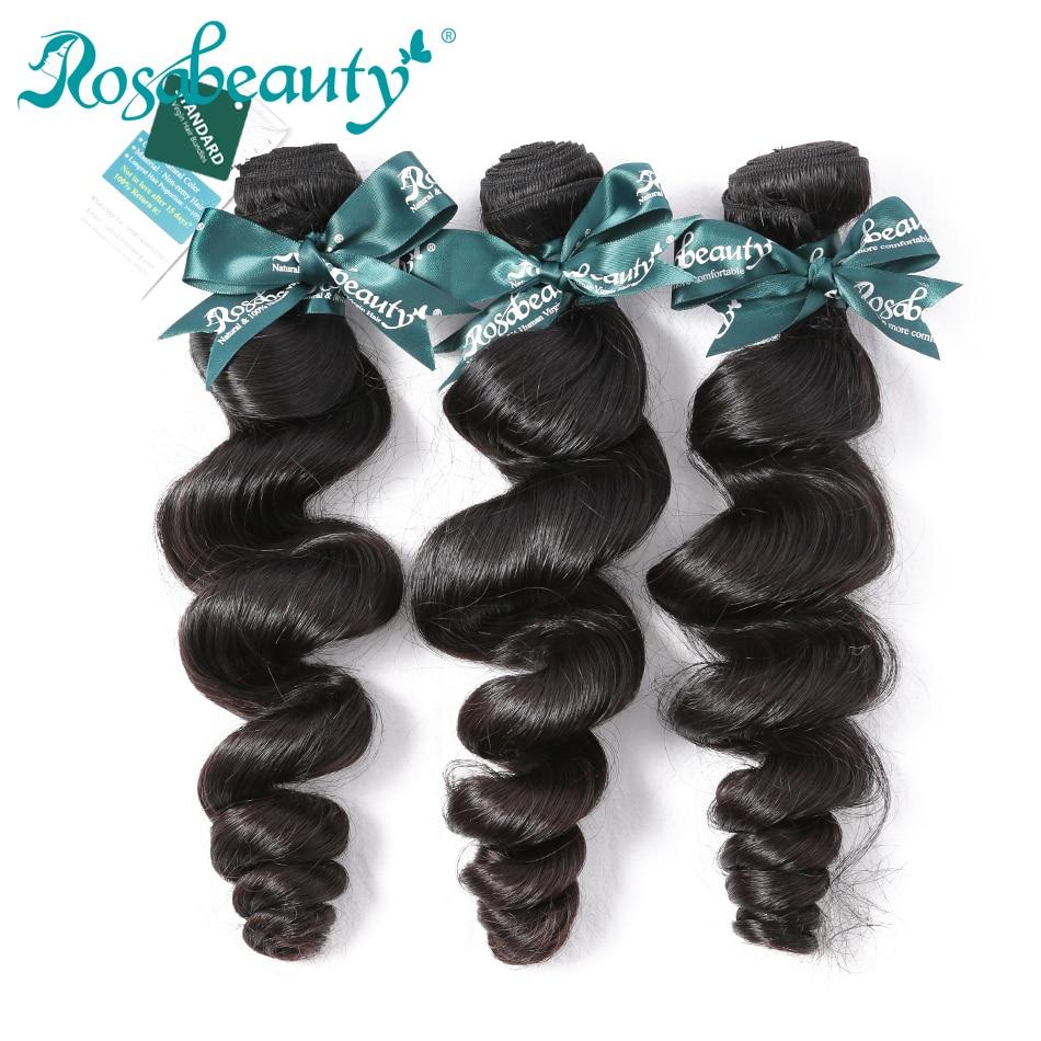 Unprocessed Brazilian Virgin Hair Loose Wave Rosabeauty Hair
