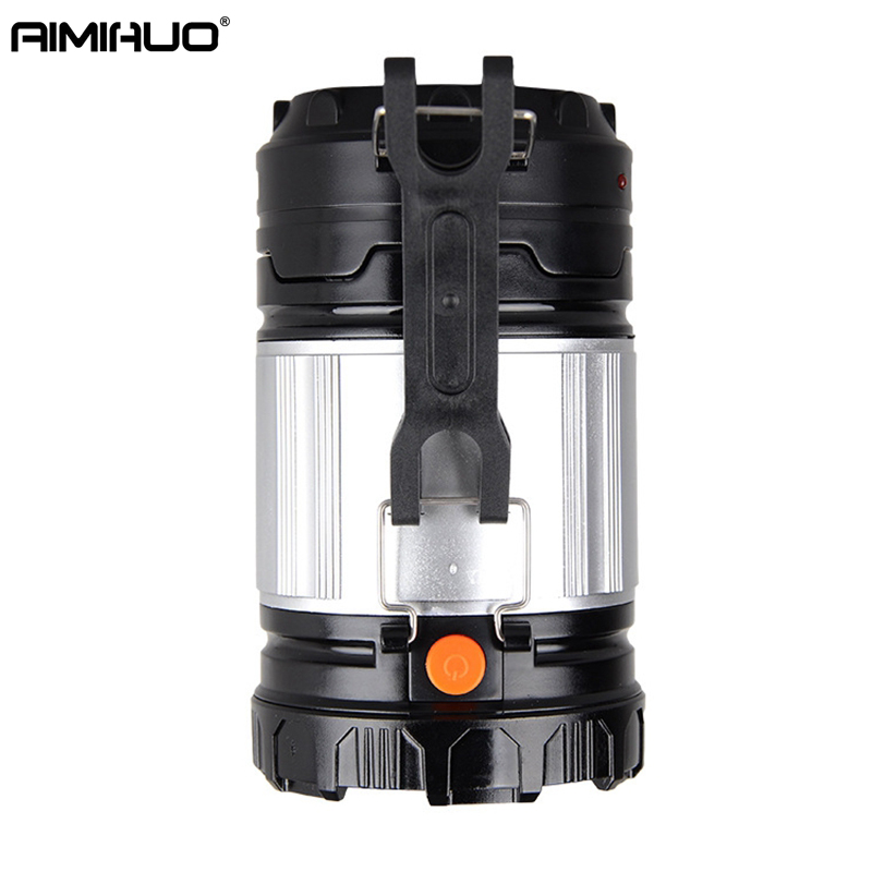 AIMIHUO Solar Portable Camping Lamp LED Light Zoom Emergency Lantern Rechargeable Light Outdoor Tent Solar LED Camping Lantern