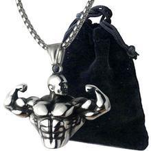 Сильное ожерелье с подвеской длинная цепочка из нержавеющей