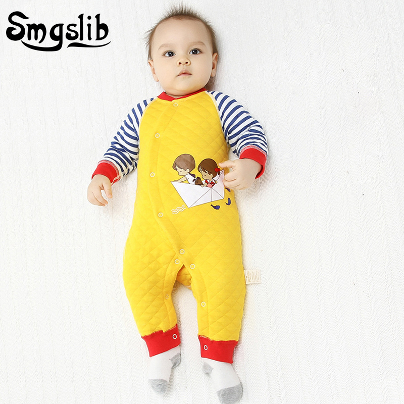 0 12 18 months Toddler Baby rompers winter Long Sleeve Cotton newborn baby boy girls jumpsuit Overalls Cartoon Infant Clothing