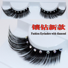 1 pairs Bridal pictures with diamond design stage performance arts exaggerated false eyelashes XZ020