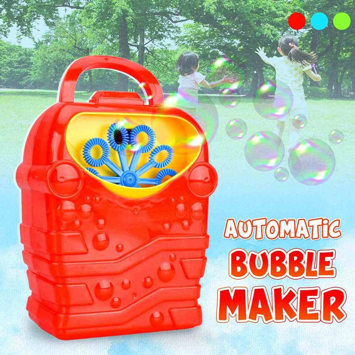 1 шт. мыльных пузырей автоматический раздатчик мыла выдувальщик пузырьков дует Портативный устройство для мыльных пузырей машина Портативный для детский праздничный костюм эффект сценического освещения опт