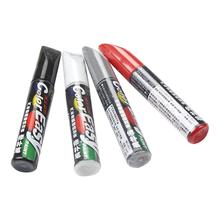 12ML Car Paint Scratches Repair Pen Brush Waterproof Paint Marker Pen Car Tread Care Automotive Maintain Black White Red Silver