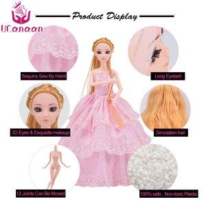 Image 4 - Bebek 83 aksesuarları DIY giydirme oyuncaklar kızlar için Fashionista nihai moda prenses bebek seti