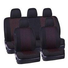 Автомобильные чехлы для сидений автомобиля красного цвета, универсальные тканевые чехлы для сидений, аксессуары, четыре сезона, автомобильные чехлы для сидений, подходят для Toyota Mazda
