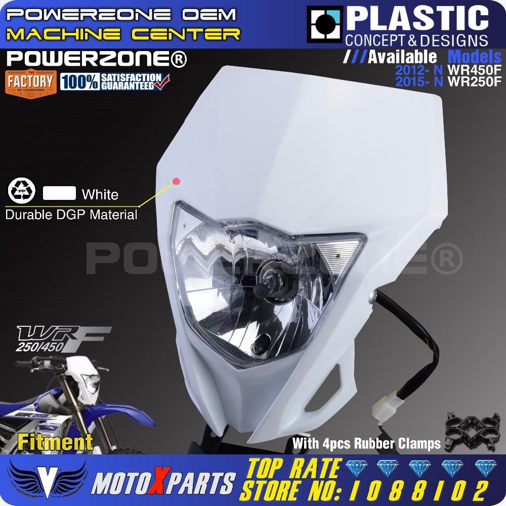 Phare avant moto Powerzone pour YAMAHA WR250F 2015-2018 WR450F 2018 MX Enduro Dirt Bike universel CRF YZF DRZ KLX