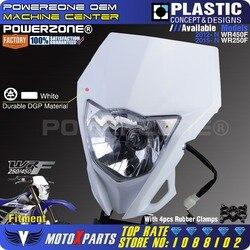 Powerzone Motorcycle  Headlight Headlamp For YAMAHA WR250F 2015-2018 WR450F 2018 MX Enduro Dirt Bike Universal CRF YZF DRZ KLX