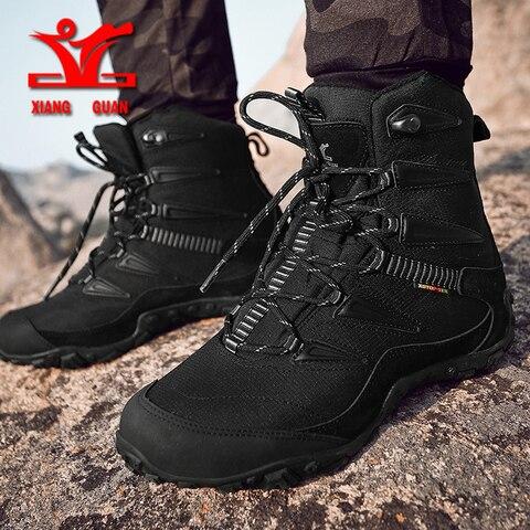XIANGGUAN Winter Men Hiking Shoes Wool Lining Snow Boots Outdoor Hunting Boots Waterproof Mountaine Shoes Men Climbing Shoes man Multan