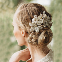 Fashion Small Pearl Bridal Hair Combs Handmade Wedding Headpiece Party Hair Jewelry Vintage Hairpins
