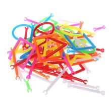 100 Pcs Interconnecting Blocks Kids Educational Toy Children Party Prop Birthday Festival Gift Construction Sticks