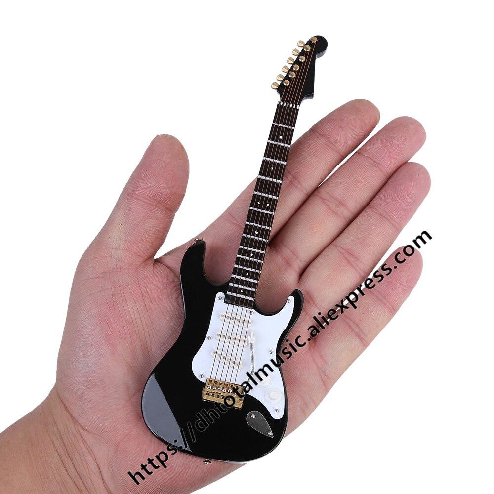 Mini guitarra elétrica, miniatura, modelo musical, instrumento musical, visor em miniatura, guitarras e capa de qualidade