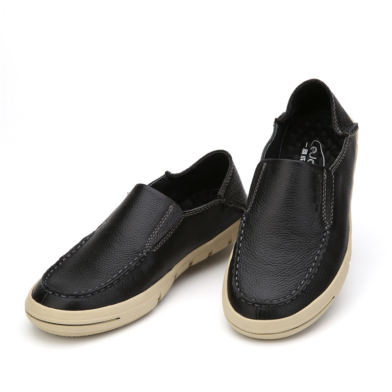 Fashion High Quality men's Genuine Leather shoes Slip-On Flats Round Toe Flats Male Business Casual Driving Loafers 2011-1 5 hot high quality men loafers leather round toe slip on casual shoes man flats driving shoes hombre zapatos comfortable moccasins