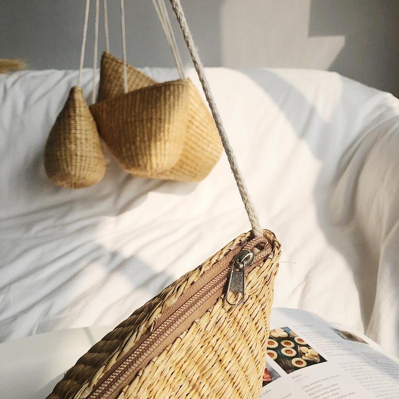 Nuove Da Spiaggia Del Khaki Borsa Delle 2019 Di Modo Telefono Paglia Mano Mobile Tessuto Donne Tessuti Resort Sacchetto A B5Fzzvq