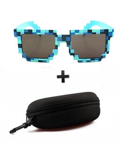 Aliexpress.com  Acheter Nouveau 4 couleur! mode Minecrafter lunettes de  Soleil Enfants Jeu D action Jouets Carré Lunettes Avec EVA Cas Cadeaux Pour  Hommes ... f523617fdfdd