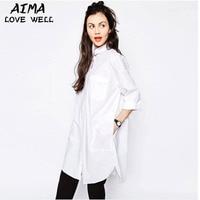 Women Spring Long Sleeve Loose Vertical Striped Blouses Shirt Fashion Casual Work Turn Down Collar Long